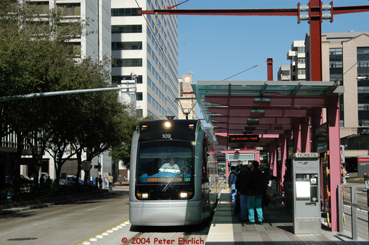 (171k, 720x478)<br><b>Country:</b> United States<br><b>City:</b> Houston, TX<br><b>System:</b> Houston METRORail<br><b>Location:</b> Dryden-TMC <br><b>Car:</b> Siemens Avanto 109 <br><b>Photo by:</b> Peter Ehrlich<br><b>Date:</b> 2/6/2004<br><b>Viewed (this week/total):</b> 2 / 2601