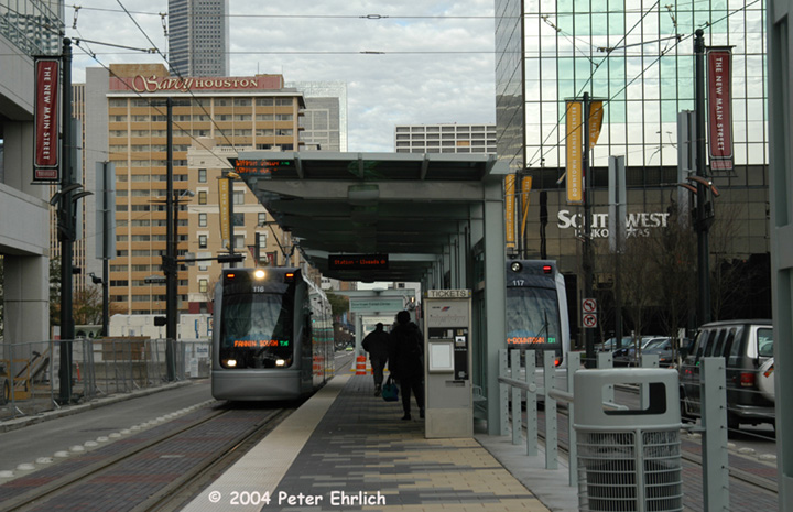 (152k, 720x465)<br><b>Country:</b> United States<br><b>City:</b> Houston, TX<br><b>System:</b> Houston METRORail<br><b>Location:</b> Downtown Transit Center <br><b>Car:</b> Siemens Avanto 116/117 <br><b>Photo by:</b> Peter Ehrlich<br><b>Date:</b> 2/5/2004<br><b>Viewed (this week/total):</b> 1 / 2683