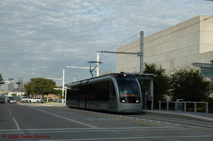 (107k, 720x478)<br><b>Country:</b> United States<br><b>City:</b> Houston, TX<br><b>System:</b> Houston METRORail<br><b>Location:</b> Fannin bet. Binz & Ewing <br><b>Car:</b> Siemens Avanto 116 <br><b>Photo by:</b> Peter Ehrlich<br><b>Date:</b> 2/5/2004<br><b>Viewed (this week/total):</b> 3 / 3355