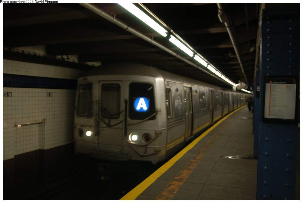 (122k, 1044x701)<br><b>Country:</b> United States<br><b>City:</b> New York<br><b>System:</b> New York City Transit<br><b>Line:</b> IND 8th Avenue Line<br><b>Location:</b> 59th Street/Columbus Circle <br><b>Route:</b> A<br><b>Car:</b> R-44 (St. Louis, 1971-73) 5398 <br><b>Photo by:</b> David Pirmann<br><b>Date:</b> 2/29/2004<br><b>Viewed (this week/total):</b> 0 / 5138