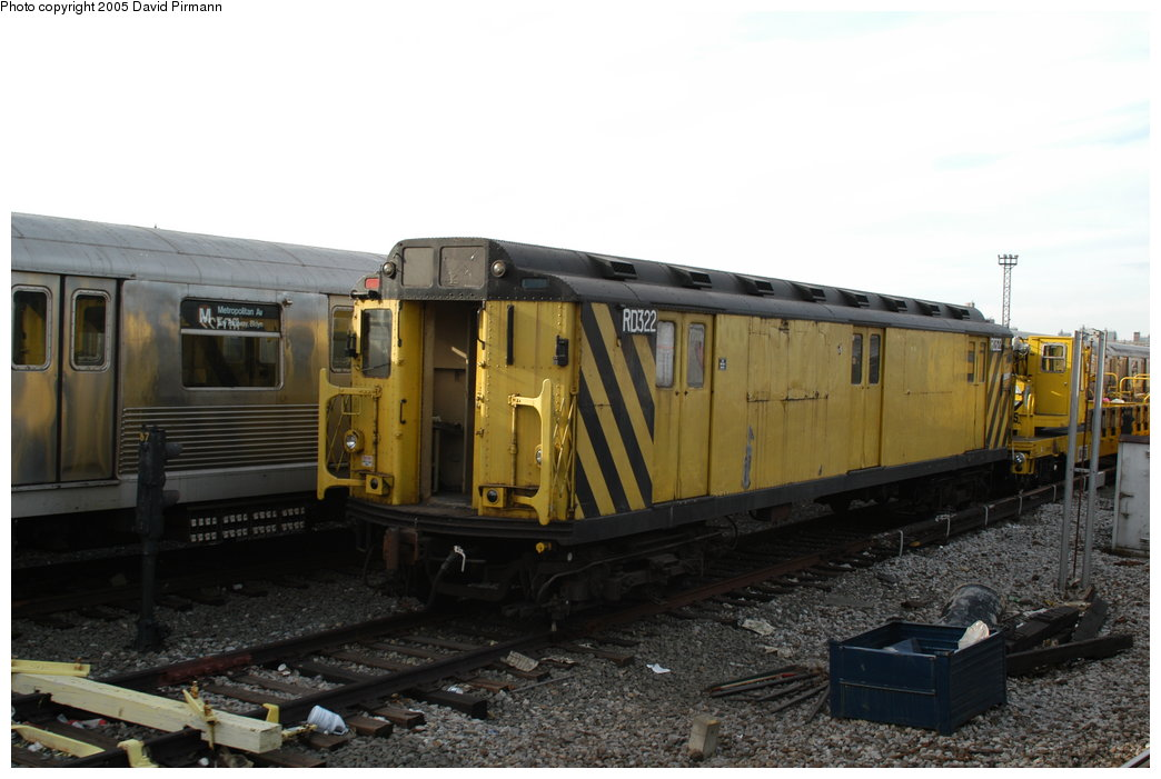 (172k, 1044x701)<br><b>Country:</b> United States<br><b>City:</b> New York<br><b>System:</b> New York City Transit<br><b>Location:</b> Coney Island Yard<br><b>Car:</b> R-71 Rider Car (R-17/R-21/R-22 Rebuilds)  RD322 (ex-5842)<br><b>Photo by:</b> David Pirmann<br><b>Date:</b> 2/29/2004<br><b>Viewed (this week/total):</b> 0 / 4303