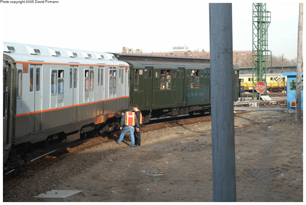 (203k, 1044x701)<br><b>Country:</b> United States<br><b>City:</b> New York<br><b>System:</b> New York City Transit<br><b>Location:</b> Coney Island Yard<br><b>Route:</b> Fan Trip<br><b>Car:</b> R-7A (Pullman, 1938)  1575 <br><b>Photo by:</b> David Pirmann<br><b>Date:</b> 2/29/2004<br><b>Viewed (this week/total):</b> 2 / 3974