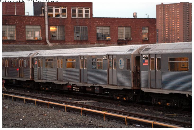(129k, 820x552)<br><b>Country:</b> United States<br><b>City:</b> New York<br><b>System:</b> New York City Transit<br><b>Location:</b> 207th Street Yard<br><b>Car:</b> R-38 (St. Louis, 1966-1967)  4056 <br><b>Photo by:</b> David Pirmann<br><b>Date:</b> 2/29/2004<br><b>Viewed (this week/total):</b> 0 / 3404