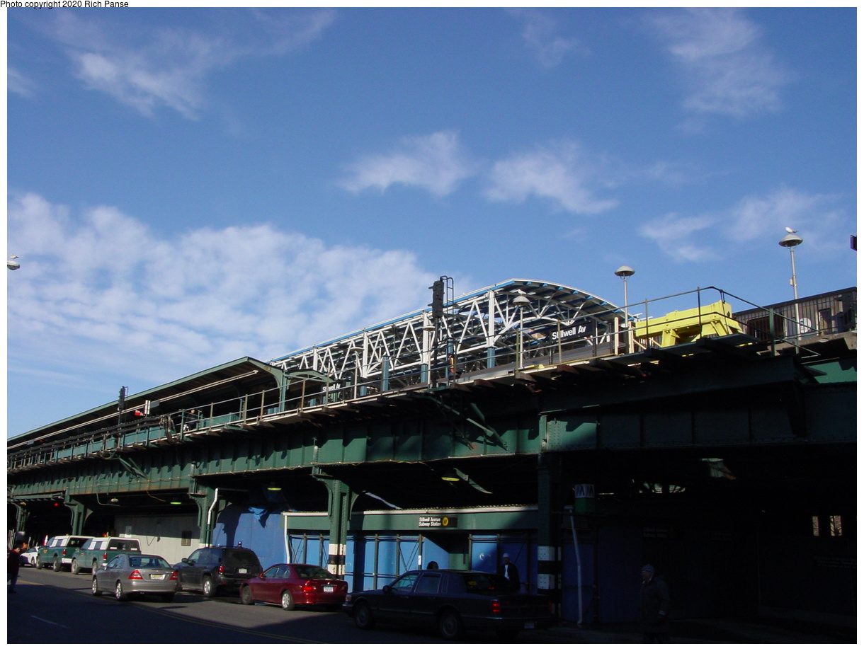 (62k, 820x620)<br><b>Country:</b> United States<br><b>City:</b> New York<br><b>System:</b> New York City Transit<br><b>Location:</b> Coney Island/Stillwell Avenue<br><b>Photo by:</b> Richard Panse<br><b>Date:</b> 2/4/2004<br><b>Notes:</b> Street view of new station<br><b>Viewed (this week/total):</b> 0 / 2613