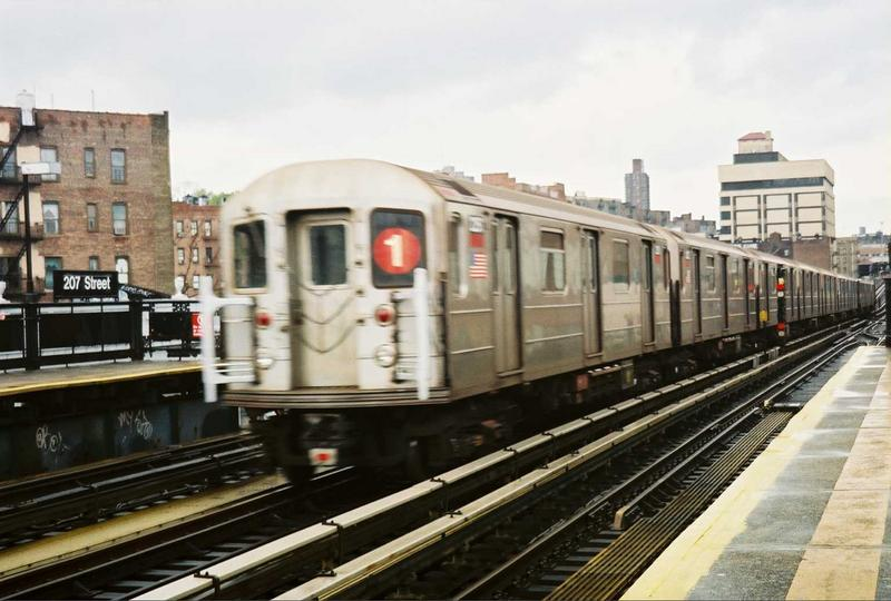 (67k, 800x540)<br><b>Country:</b> United States<br><b>City:</b> New York<br><b>System:</b> New York City Transit<br><b>Line:</b> IRT West Side Line<br><b>Location:</b> 207th Street <br><b>Route:</b> 1<br><b>Car:</b> R-62A (Bombardier, 1984-1987)  2251 <br><b>Photo by:</b> Gary Chatterton<br><b>Date:</b> 5/1/2005<br><b>Viewed (this week/total):</b> 1 / 2892