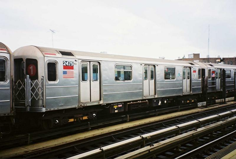 (59k, 800x540)<br><b>Country:</b> United States<br><b>City:</b> New York<br><b>System:</b> New York City Transit<br><b>Line:</b> IRT West Side Line<br><b>Location:</b> 207th Street <br><b>Route:</b> 1<br><b>Car:</b> R-62A (Bombardier, 1984-1987)  2475 <br><b>Photo by:</b> Gary Chatterton<br><b>Date:</b> 5/1/2005<br><b>Viewed (this week/total):</b> 0 / 4635