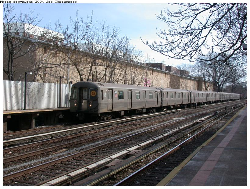 (162k, 820x620)<br><b>Country:</b> United States<br><b>City:</b> New York<br><b>System:</b> New York City Transit<br><b>Line:</b> BMT Brighton Line<br><b>Location:</b> Avenue H <br><b>Route:</b> Q<br><b>Car:</b> R-68A (Kawasaki, 1988-1989)  5002 <br><b>Photo by:</b> Joe Testagrose<br><b>Date:</b> 2/29/2004<br><b>Viewed (this week/total):</b> 2 / 3463