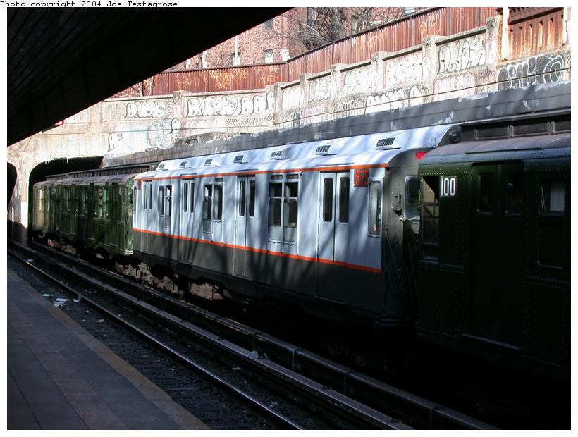(119k, 820x620)<br><b>Country:</b> United States<br><b>City:</b> New York<br><b>System:</b> New York City Transit<br><b>Line:</b> BMT Brighton Line<br><b>Location:</b> Church Avenue <br><b>Route:</b> Fan Trip<br><b>Car:</b> R-7A (Pullman, 1938)  1575 <br><b>Photo by:</b> Joe Testagrose<br><b>Date:</b> 2/28/2004<br><b>Viewed (this week/total):</b> 2 / 2809
