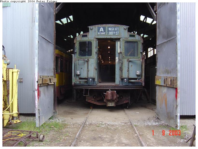 (93k, 820x620)<br><b>Country:</b> United States<br><b>City:</b> Kennebunk, ME<br><b>System:</b> Seashore Trolley Museum <br><b>Car:</b> R-4 (American Car & Foundry, 1932-1933) 800 <br><b>Photo by:</b> Peter Folger<br><b>Date:</b> 9/1/2003<br><b>Viewed (this week/total):</b> 2 / 2774