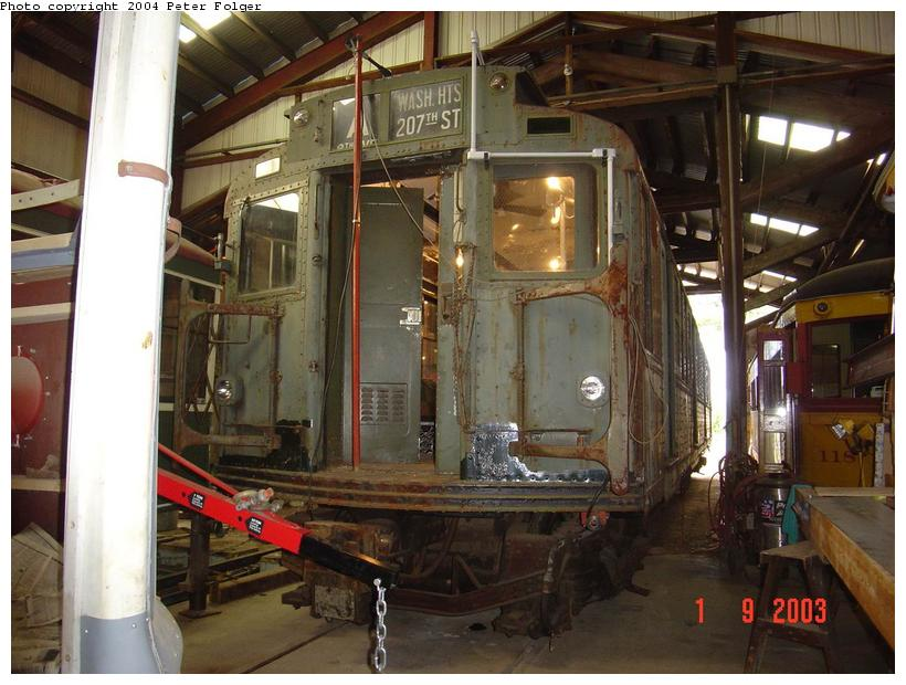 (93k, 820x620)<br><b>Country:</b> United States<br><b>City:</b> Kennebunk, ME<br><b>System:</b> Seashore Trolley Museum <br><b>Car:</b> R-4 (American Car & Foundry, 1932-1933) 800 <br><b>Photo by:</b> Peter Folger<br><b>Date:</b> 9/1/2003<br><b>Viewed (this week/total):</b> 2 / 2875