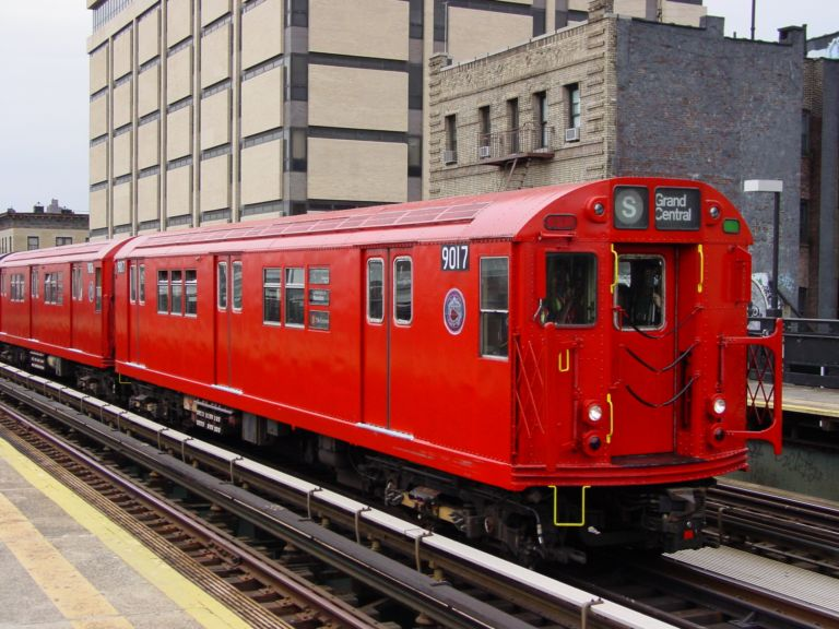 (91k, 768x576)<br><b>Country:</b> United States<br><b>City:</b> New York<br><b>System:</b> New York City Transit<br><b>Line:</b> IRT West Side Line<br><b>Location:</b> 215th Street <br><b>Route:</b> Fan Trip<br><b>Car:</b> R-33 Main Line (St. Louis, 1962-63) 9017 <br><b>Photo by:</b> Richard Panse<br><b>Date:</b> 4/25/2004<br><b>Viewed (this week/total):</b> 0 / 2833