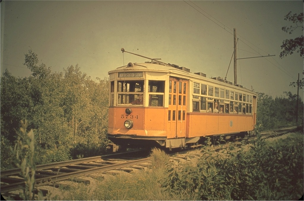 (189k, 1024x678)<br><b>Country:</b> United States<br><b>City:</b> Kennebunk, ME<br><b>System:</b> Seashore Trolley Museum <br><b>Car:</b> MBTA 5734 <br><b>Photo by:</b> Hal Greenwald<br><b>Collection of:</b> Joe Testagrose<br><b>Viewed (this week/total):</b> 1 / 1247