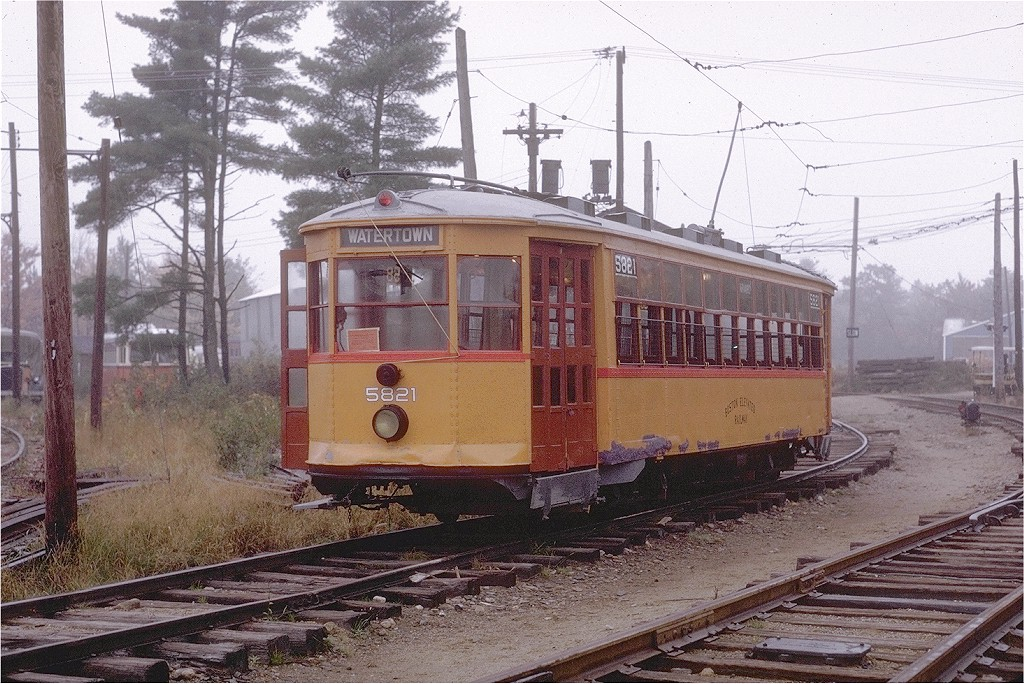 (256k, 1024x684)<br><b>Country:</b> United States<br><b>City:</b> Kennebunk, ME<br><b>System:</b> Seashore Trolley Museum <br><b>Car:</b> MBTA 5821 <br><b>Photo by:</b> Joe Testagrose<br><b>Date:</b> 10/10/1970<br><b>Viewed (this week/total):</b> 0 / 1100