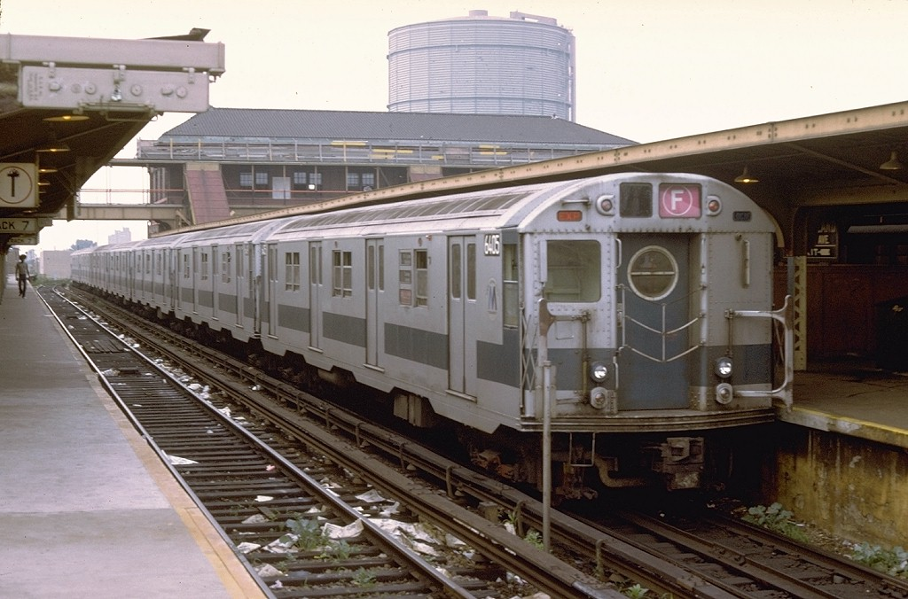 (185k, 1024x676)<br><b>Country:</b> United States<br><b>City:</b> New York<br><b>System:</b> New York City Transit<br><b>Location:</b> Coney Island/Stillwell Avenue<br><b>Route:</b> F<br><b>Car:</b> R-16 (American Car & Foundry, 1955) 6405 <br><b>Photo by:</b> Doug Grotjahn<br><b>Collection of:</b> Joe Testagrose<br><b>Date:</b> 7/30/1972<br><b>Viewed (this week/total):</b> 2 / 4785