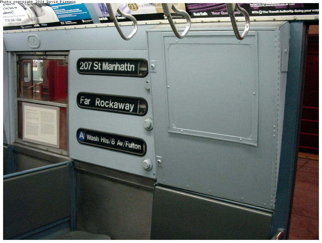 (110k, 1044x788)<br><b>Country:</b> United States<br><b>City:</b> New York<br><b>System:</b> New York City Transit<br><b>Location:</b> New York Transit Museum<br><b>Car:</b> R-16 (American Car & Foundry, 1955) 6387 <br><b>Photo by:</b> David Pirmann<br><b>Date:</b> 3/12/2000<br><b>Viewed (this week/total):</b> 11 / 16684