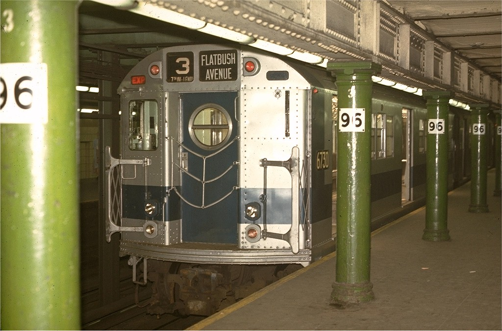 (195k, 1024x677)<br><b>Country:</b> United States<br><b>City:</b> New York<br><b>System:</b> New York City Transit<br><b>Line:</b> IRT West Side Line<br><b>Location:</b> 96th Street <br><b>Route:</b> 3<br><b>Car:</b> R-17 (St. Louis, 1955-56) 6730 <br><b>Photo by:</b> Joe Testagrose<br><b>Date:</b> 5/2/1970<br><b>Viewed (this week/total):</b> 3 / 4458