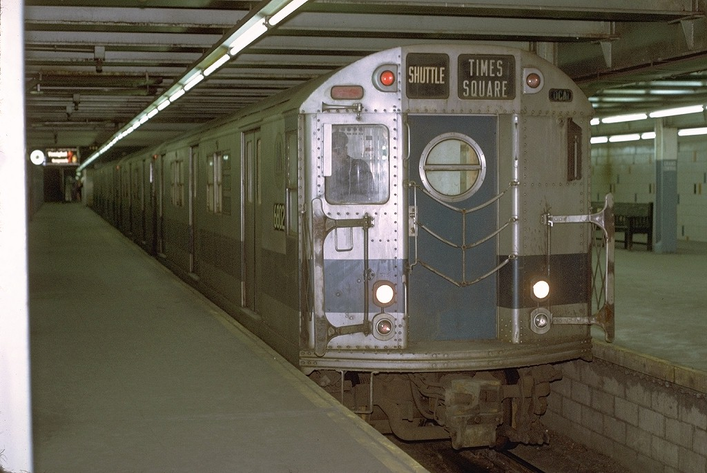 (198k, 1024x685)<br><b>Country:</b> United States<br><b>City:</b> New York<br><b>System:</b> New York City Transit<br><b>Line:</b> IRT Times Square-Grand Central Shuttle<br><b>Location:</b> Grand Central <br><b>Car:</b> R-17 (St. Louis, 1955-56) 6802 <br><b>Photo by:</b> Joe Testagrose<br><b>Date:</b> 3/28/1971<br><b>Viewed (this week/total):</b> 2 / 3690