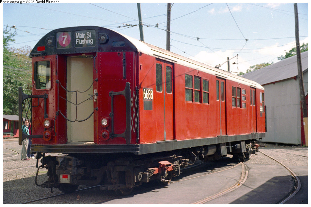 (198k, 1044x695)<br><b>Country:</b> United States<br><b>City:</b> East Haven/Branford, Ct.<br><b>System:</b> Shore Line Trolley Museum <br><b>Car:</b> R-17 (St. Louis, 1955-56) 6688 <br><b>Photo by:</b> David Pirmann<br><b>Date:</b> 10/5/1996<br><b>Viewed (this week/total):</b> 2 / 9767