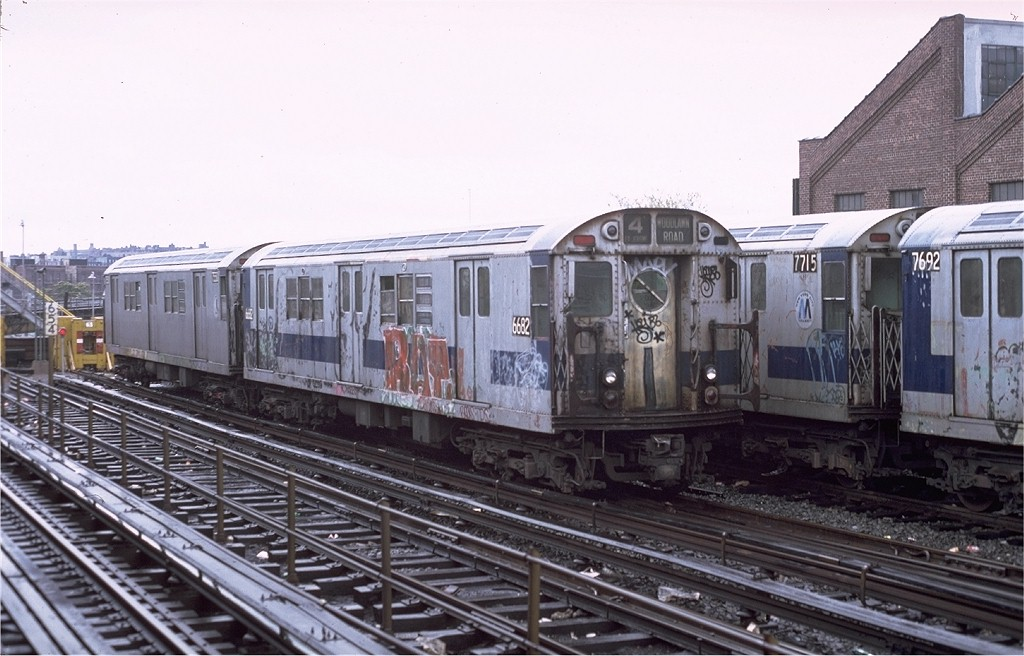 (182k, 1024x656)<br><b>Country:</b> United States<br><b>City:</b> New York<br><b>System:</b> New York City Transit<br><b>Location:</b> East 180th Street Yard<br><b>Car:</b> R-17 (St. Louis, 1955-56) 6682 <br><b>Photo by:</b> Joe Testagrose<br><b>Date:</b> 11/3/1979<br><b>Viewed (this week/total):</b> 2 / 3514