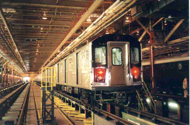 (26k, 654x432)<br><b>Country:</b> United States<br><b>City:</b> New York<br><b>System:</b> New York City Transit<br><b>Location:</b> East 180th Street Shop<br><b>Car:</b> R-142 (Primary Order, Bombardier, 1999-2002)  6301 <br><b>Photo by:</b> Steve Kreisler<br><b>Viewed (this week/total):</b> 3 / 7081