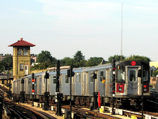 (78k, 600x450)<br><b>Country:</b> United States<br><b>City:</b> New York<br><b>System:</b> New York City Transit<br><b>Line:</b> IRT White Plains Road Line<br><b>Location:</b> 238th Street (Nereid Avenue) <br><b>Route:</b> 2<br><b>Car:</b> R-142 (Primary Order, Bombardier, 1999-2002)  6326 <br><b>Photo by:</b> Trevor Logan<br><b>Date:</b> 7/2001<br><b>Viewed (this week/total):</b> 3 / 6824