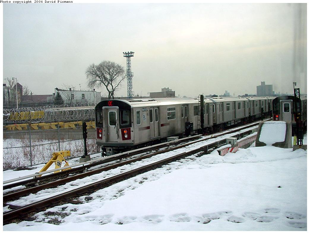 (122k, 1044x788)<br><b>Country:</b> United States<br><b>City:</b> New York<br><b>System:</b> New York City Transit<br><b>Location:</b> Unionport Yard<br><b>Car:</b> R-142 (Primary Order, Bombardier, 1999-2002)  6410 <br><b>Photo by:</b> David Pirmann<br><b>Date:</b> 1/14/2001<br><b>Viewed (this week/total):</b> 4 / 5792