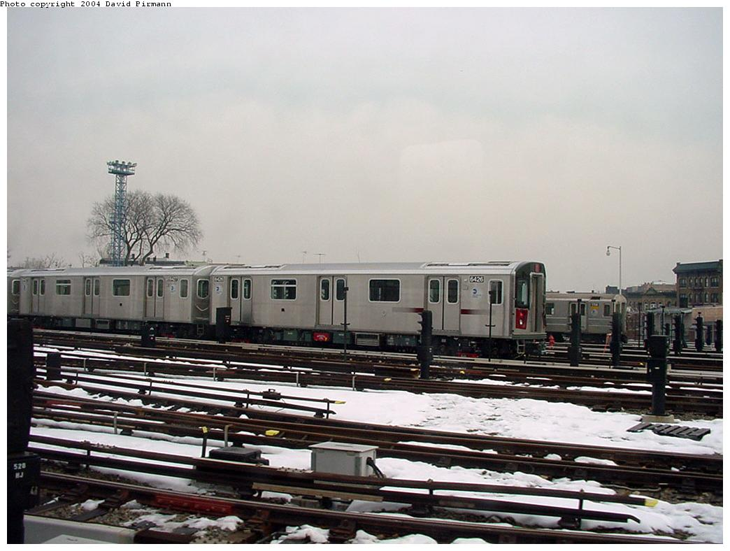 (117k, 1044x788)<br><b>Country:</b> United States<br><b>City:</b> New York<br><b>System:</b> New York City Transit<br><b>Location:</b> Unionport Yard<br><b>Car:</b> R-142 (Primary Order, Bombardier, 1999-2002)  6426 <br><b>Photo by:</b> David Pirmann<br><b>Date:</b> 1/14/2001<br><b>Viewed (this week/total):</b> 0 / 4069