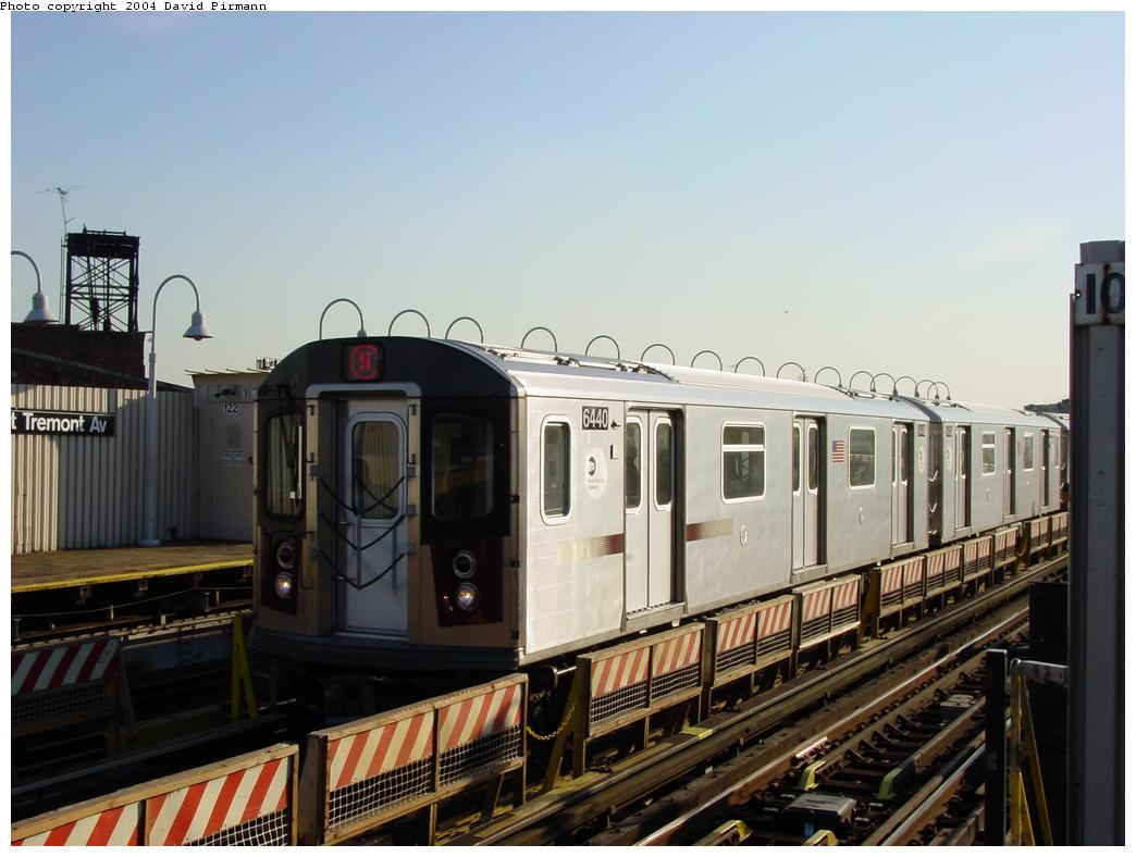 (105k, 1044x788)<br><b>Country:</b> United States<br><b>City:</b> New York<br><b>System:</b> New York City Transit<br><b>Line:</b> IRT White Plains Road Line<br><b>Location:</b> West Farms Sq./East Tremont Ave./177th St. <br><b>Route:</b> 5<br><b>Car:</b> R-142 (Primary Order, Bombardier, 1999-2002)  6440 <br><b>Photo by:</b> David Pirmann<br><b>Date:</b> 8/21/2002<br><b>Viewed (this week/total):</b> 2 / 4383