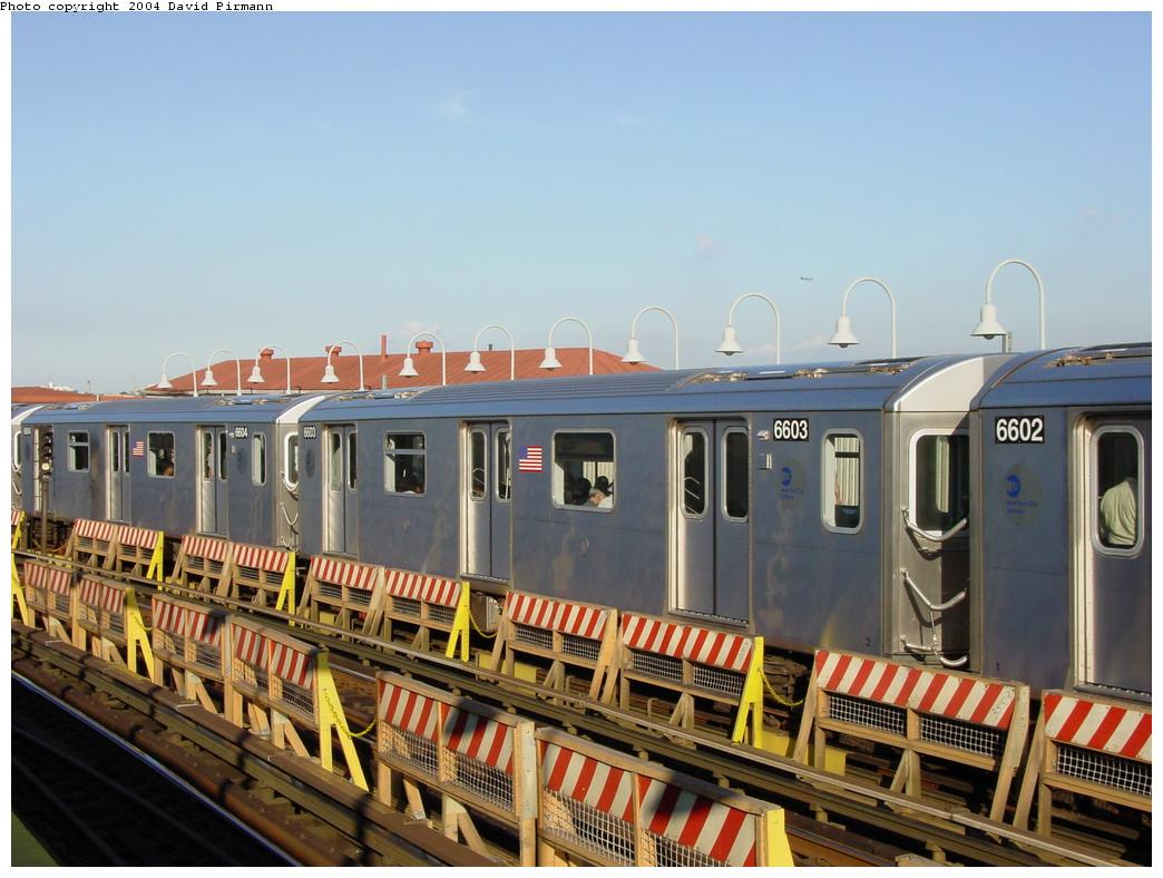 (118k, 1044x788)<br><b>Country:</b> United States<br><b>City:</b> New York<br><b>System:</b> New York City Transit<br><b>Line:</b> IRT White Plains Road Line<br><b>Location:</b> West Farms Sq./East Tremont Ave./177th St. <br><b>Route:</b> 2<br><b>Car:</b> R-142 (Primary Order, Bombardier, 1999-2002)  6603 <br><b>Photo by:</b> David Pirmann<br><b>Date:</b> 8/21/2002<br><b>Viewed (this week/total):</b> 2 / 2782