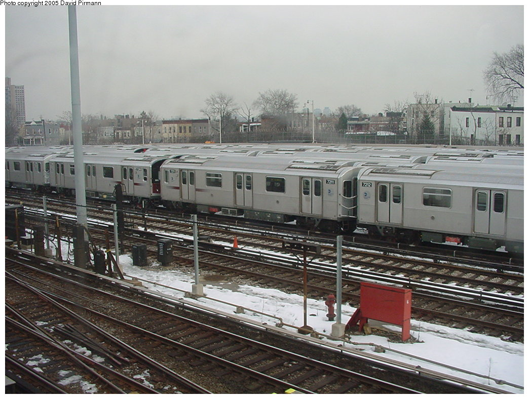 (194k, 1044x788)<br><b>Country:</b> United States<br><b>City:</b> New York<br><b>System:</b> New York City Transit<br><b>Location:</b> Unionport Yard<br><b>Car:</b> R-142A (Primary Order, Kawasaki, 1999-2002)  7211 <br><b>Photo by:</b> David Pirmann<br><b>Date:</b> 1/14/2001<br><b>Viewed (this week/total):</b> 4 / 3947
