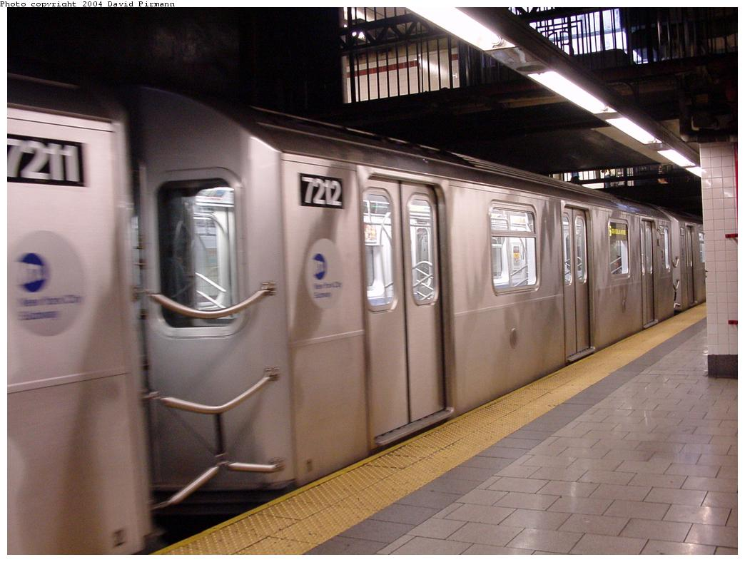(107k, 1044x788)<br><b>Country:</b> United States<br><b>City:</b> New York<br><b>System:</b> New York City Transit<br><b>Line:</b> IRT East Side Line<br><b>Location:</b> Brooklyn Bridge/City Hall <br><b>Route:</b> 6<br><b>Car:</b> R-142A (Primary Order, Kawasaki, 1999-2002)  7212 <br><b>Photo by:</b> David Pirmann<br><b>Date:</b> 7/29/2000<br><b>Viewed (this week/total):</b> 3 / 4606