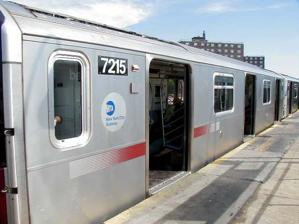 (70k, 600x450)<br><b>Country:</b> United States<br><b>City:</b> New York<br><b>System:</b> New York City Transit<br><b>Line:</b> IRT White Plains Road Line<br><b>Location:</b> Gun Hill Road <br><b>Route:</b> 2<br><b>Car:</b> R-142A (Primary Order, Kawasaki, 1999-2002)  7215 <br><b>Photo by:</b> Trevor Logan<br><b>Date:</b> 6/17/2001<br><b>Viewed (this week/total):</b> 1 / 5439