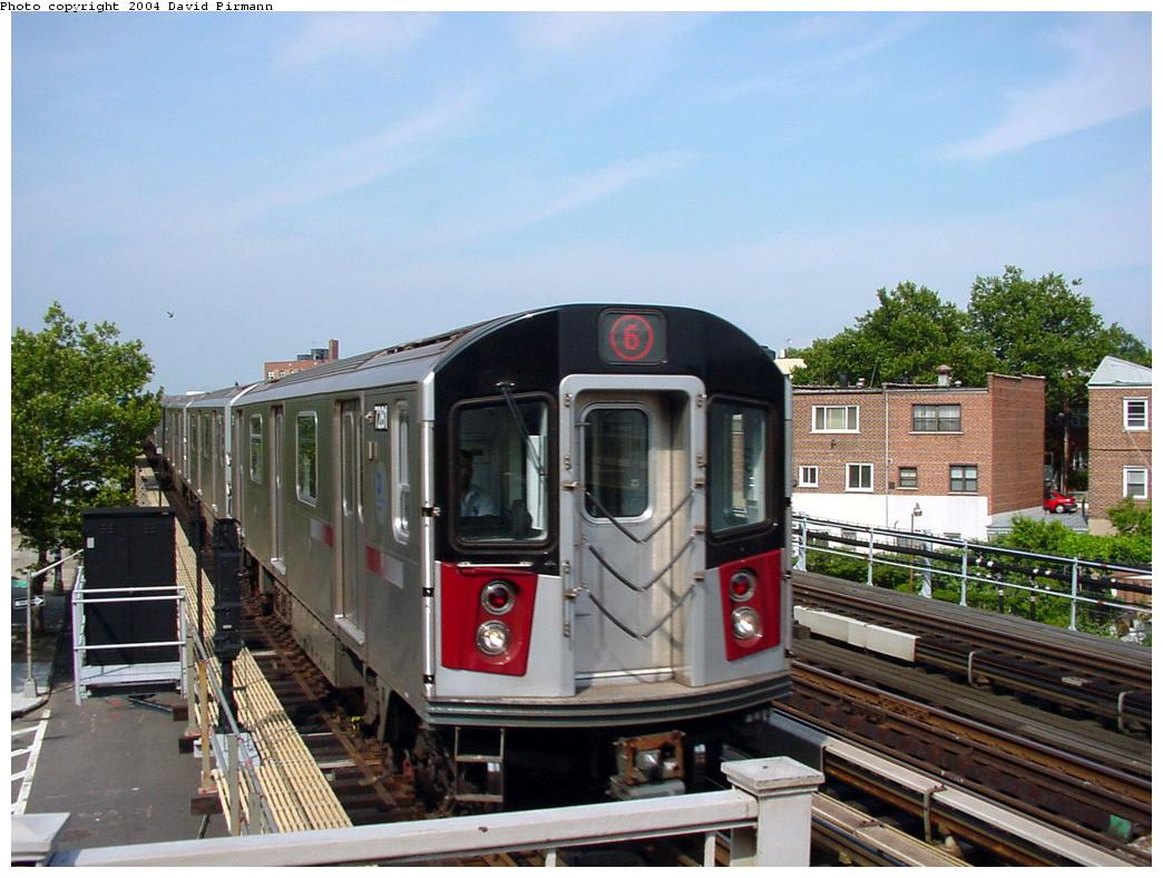 (129k, 1044x788)<br><b>Country:</b> United States<br><b>City:</b> New York<br><b>System:</b> New York City Transit<br><b>Line:</b> IRT Pelham Line<br><b>Location:</b> Middletown Road <br><b>Route:</b> 6<br><b>Car:</b> R-142A (Primary Order, Kawasaki, 1999-2002)  7281 <br><b>Photo by:</b> David Pirmann<br><b>Date:</b> 7/4/2001<br><b>Viewed (this week/total):</b> 0 / 13034