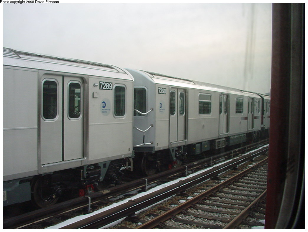 (129k, 1044x788)<br><b>Country:</b> United States<br><b>City:</b> New York<br><b>System:</b> New York City Transit<br><b>Location:</b> Unionport Yard<br><b>Car:</b> R-142A (Primary Order, Kawasaki, 1999-2002)  7290 <br><b>Photo by:</b> David Pirmann<br><b>Date:</b> 1/14/2001<br><b>Viewed (this week/total):</b> 2 / 3183