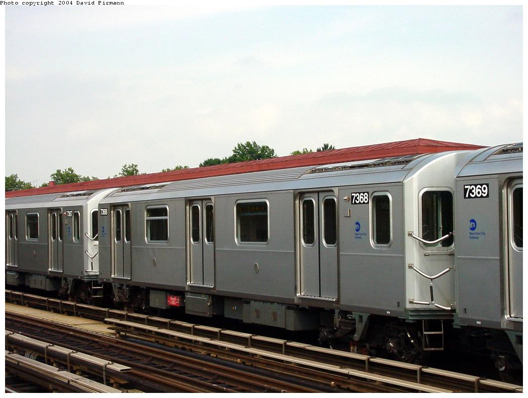 (106k, 1044x788)<br><b>Country:</b> United States<br><b>City:</b> New York<br><b>System:</b> New York City Transit<br><b>Line:</b> IRT Pelham Line<br><b>Location:</b> Middletown Road <br><b>Route:</b> 6<br><b>Car:</b> R-142A (Primary Order, Kawasaki, 1999-2002)  7368 <br><b>Photo by:</b> David Pirmann<br><b>Date:</b> 7/4/2001<br><b>Viewed (this week/total):</b> 1 / 3815