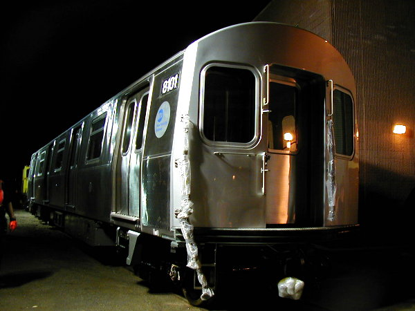 (59k, 600x450)<br><b>Country:</b> United States<br><b>City:</b> New York<br><b>System:</b> New York City Transit<br><b>Location:</b> 207th Street Yard<br><b>Car:</b> R-143 (Kawasaki, 2001-2002) 8101 <br><b>Photo by:</b> Trevor Logan<br><b>Date:</b> 4/30/2001<br><b>Viewed (this week/total):</b> 0 / 4770