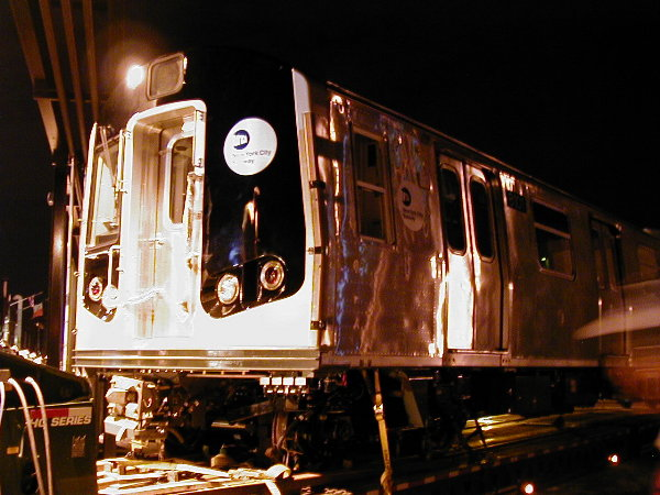 (80k, 600x450)<br><b>Country:</b> United States<br><b>City:</b> New York<br><b>System:</b> New York City Transit<br><b>Location:</b> 207th Street Yard<br><b>Car:</b> R-143 (Kawasaki, 2001-2002) 8101 <br><b>Photo by:</b> Trevor Logan<br><b>Date:</b> 4/30/2001<br><b>Viewed (this week/total):</b> 0 / 3220