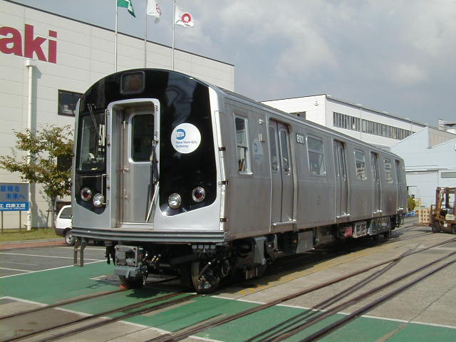 (57k, 640x480)<br><b>Country:</b> United States<br><b>City:</b> New York<br><b>System:</b> New York City Transit<br><b>Location:</b> Kawasaki Plant, Kobe, Japan<br><b>Car:</b> R-143 (Kawasaki, 2001-2002) 8101 <br><b>Photo by:</b> Kawasaki<br><b>Date:</b> 10/24/2000<br><b>Viewed (this week/total):</b> 11 / 6801