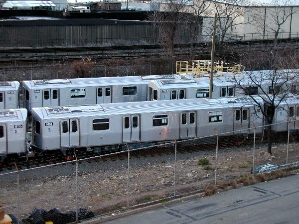 (80k, 600x450)<br><b>Country:</b> United States<br><b>City:</b> New York<br><b>System:</b> New York City Transit<br><b>Location:</b> Kawasaki Plant, Yonkers, NY<br><b>Car:</b> R-143 (Kawasaki, 2001-2002) 8114 <br><b>Photo by:</b> Trevor Logan<br><b>Date:</b> 12/25/2001<br><b>Viewed (this week/total):</b> 2 / 5580