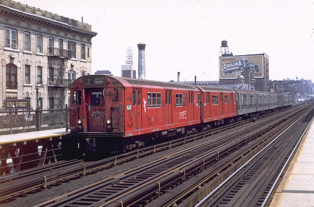 (232k, 1024x675)<br><b>Country:</b> United States<br><b>City:</b> New York<br><b>System:</b> New York City Transit<br><b>Line:</b> IRT West Side Line<br><b>Location:</b> 125th Street <br><b>Route:</b> 1<br><b>Car:</b> R-29 (St. Louis, 1962) 8628 <br><b>Photo by:</b> Joe Testagrose<br><b>Date:</b> 6/4/1972<br><b>Viewed (this week/total):</b> 5 / 3228