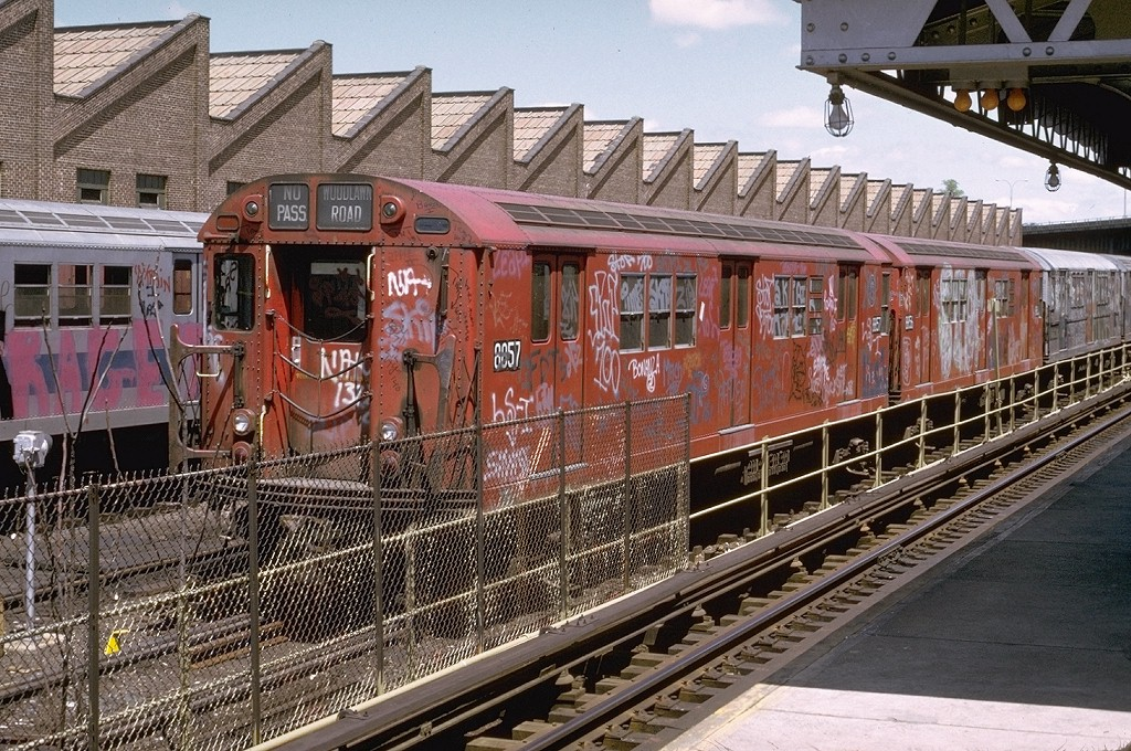 (293k, 1024x680)<br><b>Country:</b> United States<br><b>City:</b> New York<br><b>System:</b> New York City Transit<br><b>Location:</b> East 180th Street Yard<br><b>Car:</b> R-33 Main Line (St. Louis, 1962-63) 8857 <br><b>Photo by:</b> Joe Testagrose<br><b>Date:</b> 5/6/1973<br><b>Viewed (this week/total):</b> 1 / 5507