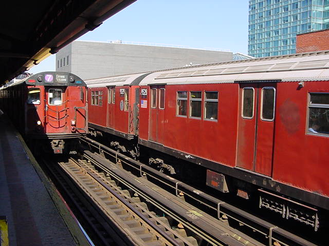 (61k, 640x480)<br><b>Country:</b> United States<br><b>City:</b> New York<br><b>System:</b> New York City Transit<br><b>Line:</b> IRT Flushing Line<br><b>Location:</b> Court House Square/45th Road <br><b>Route:</b> 7<br><b>Car:</b> R-36 Main Line (St. Louis, 1964) 9528 <br><b>Photo by:</b> Salaam Allah<br><b>Date:</b> 9/17/2002<br><b>Viewed (this week/total):</b> 1 / 2706