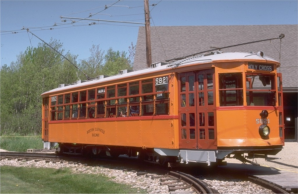 (231k, 1024x667)<br><b>Country:</b> United States<br><b>City:</b> Kennebunk, ME<br><b>System:</b> Seashore Trolley Museum <br><b>Car:</b> MBTA 5821 <br><b>Photo by:</b> Gerald H. Landau<br><b>Collection of:</b> Joe Testagrose<br><b>Date:</b> 5/24/1981<br><b>Viewed (this week/total):</b> 2 / 1219