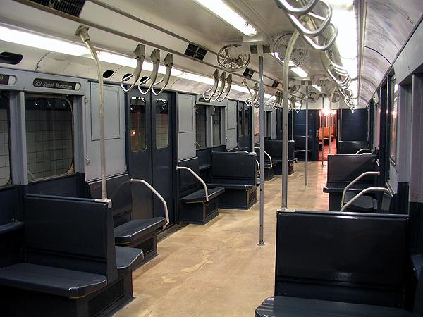 (70k, 600x450)<br><b>Country:</b> United States<br><b>City:</b> New York<br><b>System:</b> New York City Transit<br><b>Location:</b> New York Transit Museum<br><b>Car:</b> R-10 (American Car & Foundry, 1948) 3184 <br><b>Photo by:</b> Trevor Logan<br><b>Date:</b> 5/16/2004<br><b>Viewed (this week/total):</b> 12 / 21075
