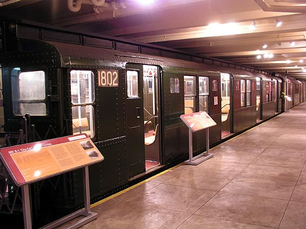 (71k, 600x450)<br><b>Country:</b> United States<br><b>City:</b> New York<br><b>System:</b> New York City Transit<br><b>Location:</b> New York Transit Museum<br><b>Car:</b> R-9 (Pressed Steel, 1940)  1802 <br><b>Photo by:</b> Trevor Logan<br><b>Date:</b> 5/16/2004<br><b>Viewed (this week/total):</b> 1 / 6272