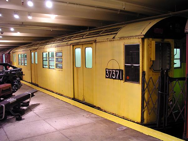 (68k, 600x450)<br><b>Country:</b> United States<br><b>City:</b> New York<br><b>System:</b> New York City Transit<br><b>Location:</b> New York Transit Museum<br><b>Car:</b> R-22 (St. Louis, 1957-58) 37371 <br><b>Photo by:</b> Trevor Logan<br><b>Date:</b> 5/16/2004<br><b>Viewed (this week/total):</b> 3 / 6121