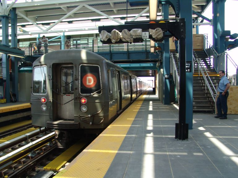 (86k, 768x576)<br><b>Country:</b> United States<br><b>City:</b> New York<br><b>System:</b> New York City Transit<br><b>Location:</b> Coney Island/Stillwell Avenue<br><b>Route:</b> D<br><b>Car:</b> R-68/R-68A Series (Number Unknown)  <br><b>Photo by:</b> Richard Panse<br><b>Date:</b> 5/23/2004<br><b>Viewed (this week/total):</b> 1 / 3531
