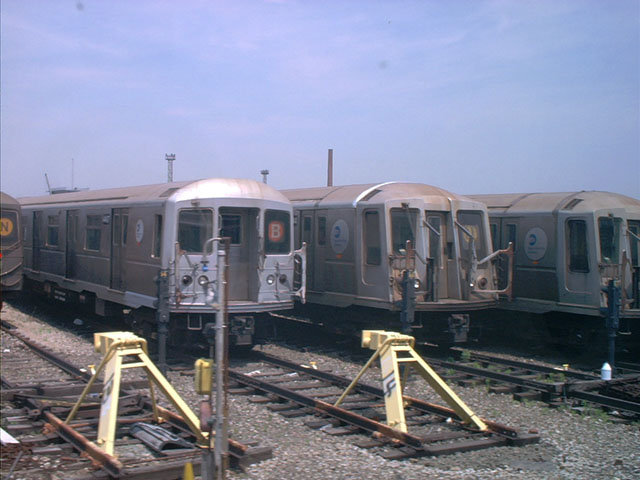 (78k, 640x480)<br><b>Country:</b> United States<br><b>City:</b> New York<br><b>System:</b> New York City Transit<br><b>Location:</b> Coney Island Yard<br><b>Car:</b> R-40M (St. Louis, 1969)   <br><b>Photo by:</b> Tony Mirabella<br><b>Date:</b> 5/23/2004<br><b>Viewed (this week/total):</b> 0 / 3163