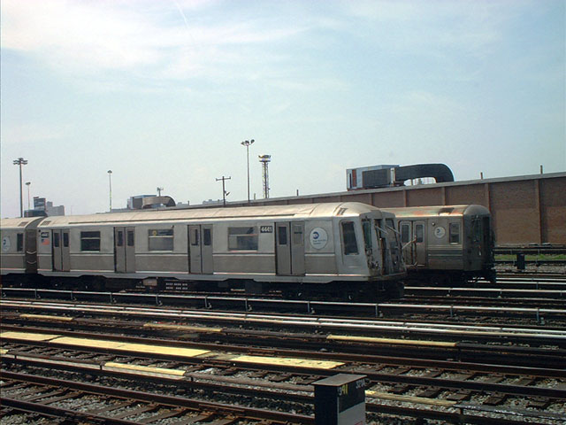(86k, 640x480)<br><b>Country:</b> United States<br><b>City:</b> New York<br><b>System:</b> New York City Transit<br><b>Location:</b> Coney Island Yard<br><b>Car:</b> R-40 (St. Louis, 1968)  4441 <br><b>Photo by:</b> Tony Mirabella<br><b>Date:</b> 5/23/2004<br><b>Viewed (this week/total):</b> 5 / 2740