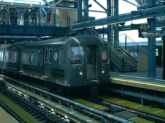 (114k, 640x480)<br><b>Country:</b> United States<br><b>City:</b> New York<br><b>System:</b> New York City Transit<br><b>Location:</b> Coney Island/Stillwell Avenue<br><b>Route:</b> D<br><b>Car:</b> R-68 (Westinghouse-Amrail, 1986-1988)  2744 <br><b>Photo by:</b> Tony Mirabella<br><b>Date:</b> 5/23/2004<br><b>Viewed (this week/total):</b> 2 / 4233